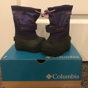 Purple Columbia Toddler Snow Boots Size 4